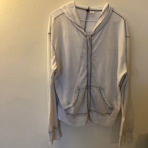 Purple acid wash zip up hoodie